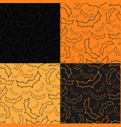set of four halloween backgrounds with bats vector image vector image