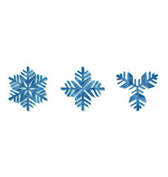 snowflake icon background set white color vector image