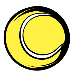 tennis ball icon cartoon vector image