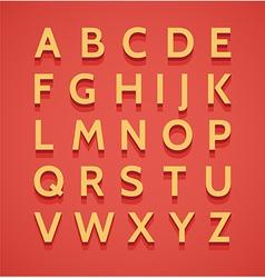 Vintage 3d alphabet vector image
