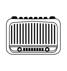 Vintage radio icon image vector