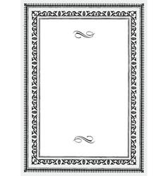 vnitage frame vector image vector image