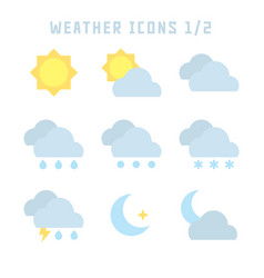 Weather icons one vector