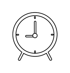 Clock time circle traditional icon graphic vector
