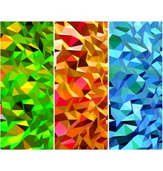 Set of Abstract backgrounds with triangle vector image
