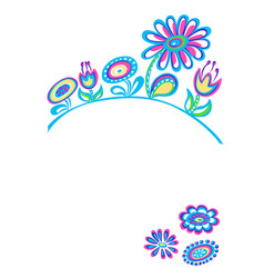 Drawing decorative flowers white background vector