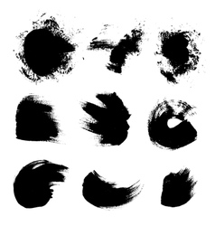 Abstract strokes of different free form brush vector