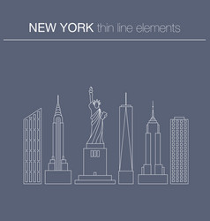 the typical buildings of new york city vector image