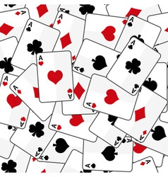 Playing cards with four aces seamless pattern vector