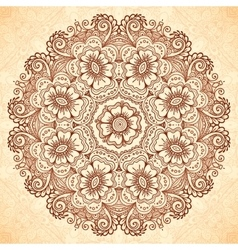 Decorative mandala in indian mehndi style vector