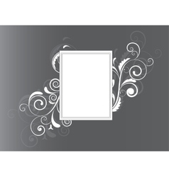 Floral frame with swirls and place for text vector