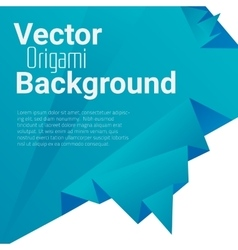Origami polygonal abstract background vector
