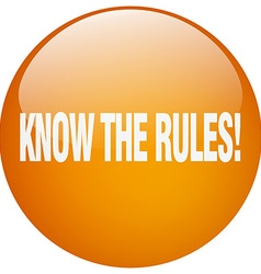 Know the rules orange round gel isolated push vector