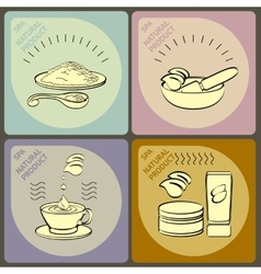 Set icons spa themed vector