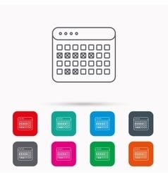 Calendar icon vacations organizer sign vector