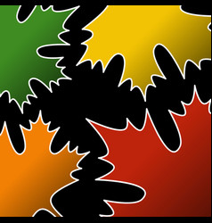 Abstract - autumn fall colored maple leafs vector