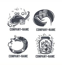 banking emblems vector image