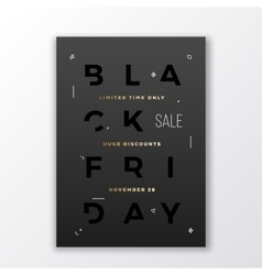 Black Friday Swiss Style Minimal Poster or Flyer vector image