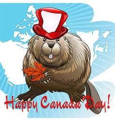 Canada Day beaver vector image