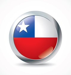 Chile flag button vector image vector image