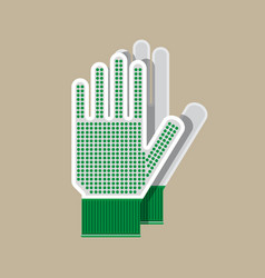 Cloth gloves gloves for gardening and garden vector