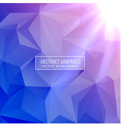 Elegant low poly geometric blue background with vector
