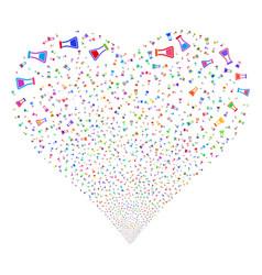 flask fireworks heart vector image