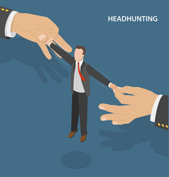 headhunting flat isometric concept vector image vector image