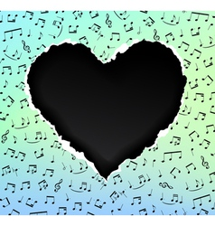 heart music vector image