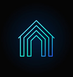 home concept blue icon vector image