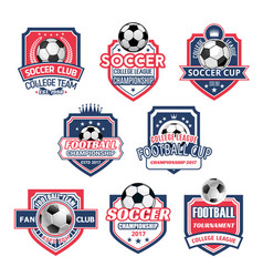 Icons for soccer club football team league vector