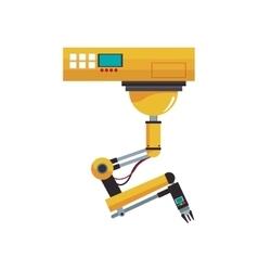 Industrial robot design vector