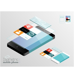 Isometric mobile phone vector