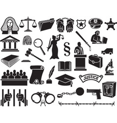 Law and Justice Icon Set vector image vector image