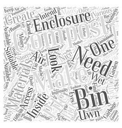 Making your uwn compost bin word cloud concept vector