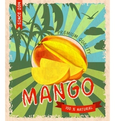Mango retro poster vector image vector image