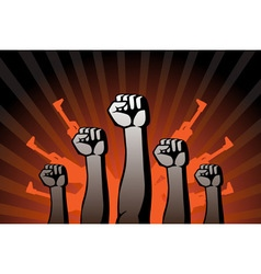 revolutionary agitation vector image vector image