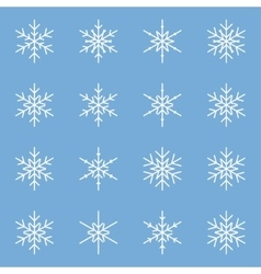 Set of different winter snowflakes vector