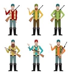 Set of Hunters vector image