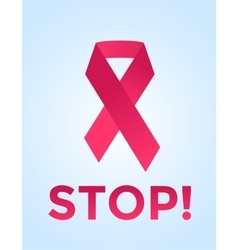 Stop cancer medical poster concept vector image