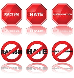 stop discrimination vector image vector image