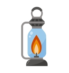 Street fire lamp isolated on white background vector image vector image