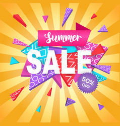 summer sale banner template for online shopping vector image