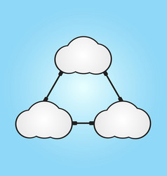 technology future cloud computing connect wire vector image