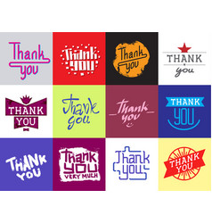 thank you quote text citate slogan message vector image