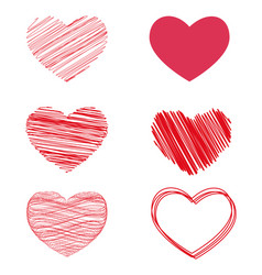 variants of hearts for valentine s day vector image vector image