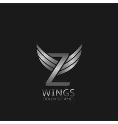 Wings Z letter logo vector image vector image