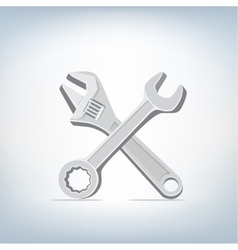 wrench and spanner icon vector image