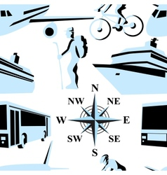 Trip  Seamless vector image