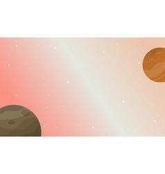 Planet space nature landscape vector
